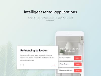 Sneak Peak into Upcoming Project web platform ios app landing page seamless form application web app agents rental