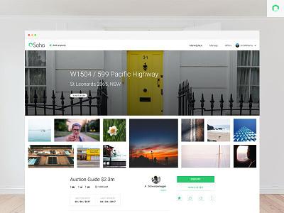 Soho App - Property Page apartments houses homes sell auction marketplace linkedin property soho soho app