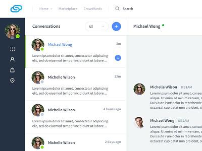 Social Media Platform - WIP conversation list direct messaging chatroom messaging chat social network social media