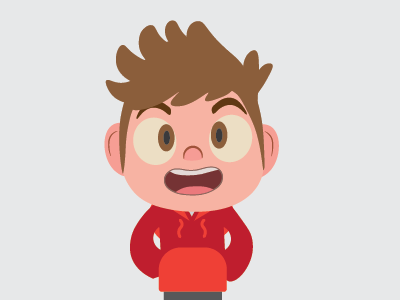 Camp Camp Character face jumper red brown nose smile tv show character cartoon camp camp