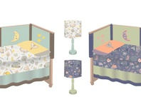 Woodland Slumber Bedding and Lampshade