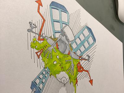 Sketch for llustration project drawing illustration