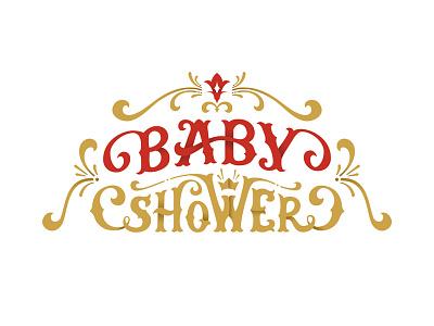 Baby Shower baby shower letters adobe illustrator vector illustration lettering