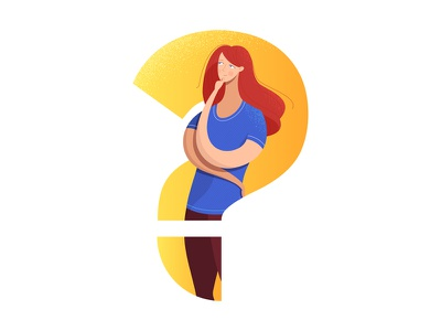 Do You Have a Question? question thinking girl woman vectornator adobe illustration illustrator vector adobe illustrator