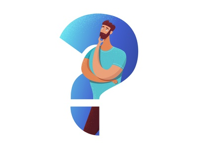 Do You Have a Question? vectornator adobe illustration vector adobe illustrator in doubt desicion problem thinking question man
