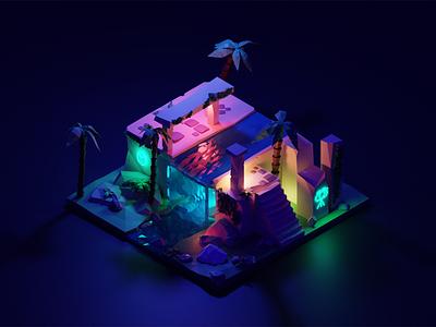 3D Ruins vectorart blender3dart 3dmodeling 3d illustration