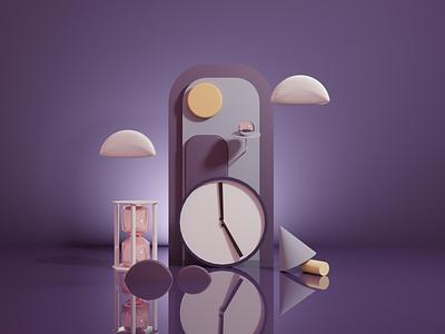 Time dribbblers creative graphicdesign designer artistic direction graphic art design shapes geometric abstract render blender 3d illustration