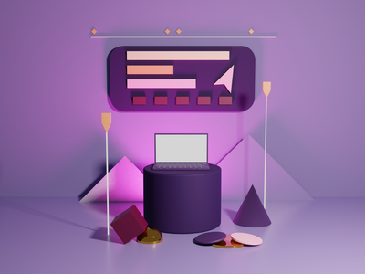 After Effects in 3D. dribbblers cycles render graphicdesign graphic vector abstract blender illustration