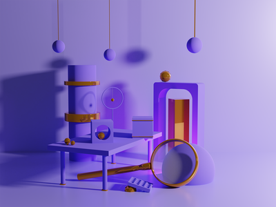 Digging for gold creative clean art artwork minimal blendercycles render graphicdesign graphic abstract design abstract blender 3d illustration