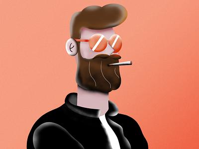 Smoky biker - illustration abstract art design character design character freelancing freelance procreate illustration