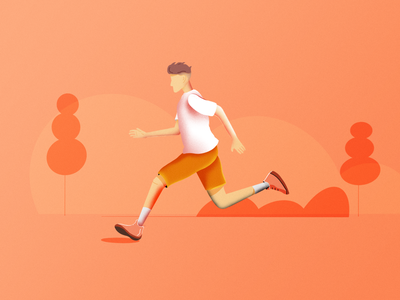 Running buddy procreate illustration freelancing freelance design character design character art abstract