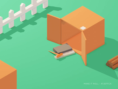 Make it roll ! gif loop animation 2d motion design illustration branding design abstract blender 3d after effects animation