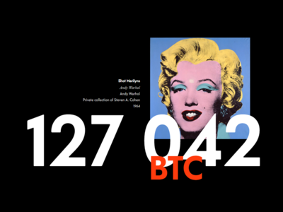 Art for Bitcoin Gallery - Personal Infographic Project