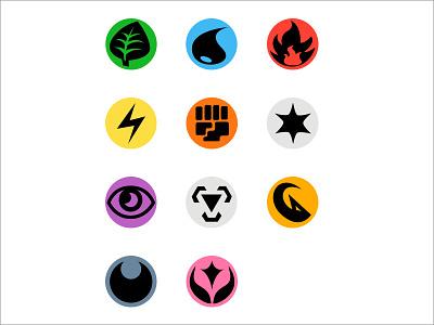 Pokemon Type Icons pen tool icons energy pokémon pokemon