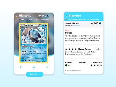 Pokemon Card UI ui tcg card pokemon pokémon blastoise