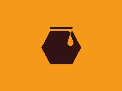 Honey Jar Logo logo icon branding gold jar honey