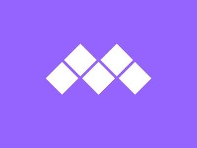 Modular Mark indigo. grid block monogram m modular