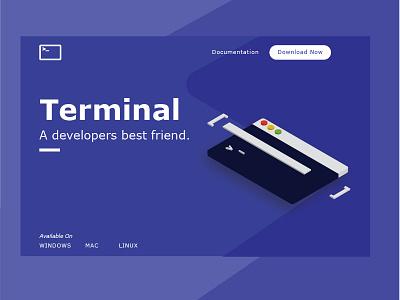 Terminal trends 2018 developer terminal flat isometric