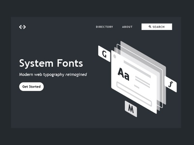 System Fonts web design isometric typography system fonts