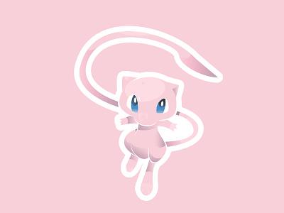 Mew pink vector pokemon mew