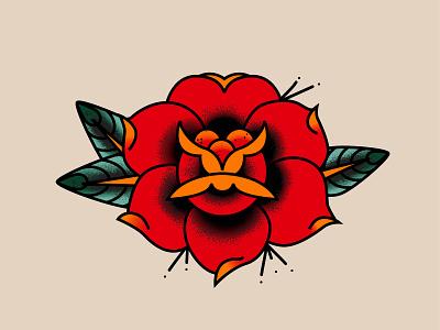 Flower traditional illustration vector rose tattoo art tattoo