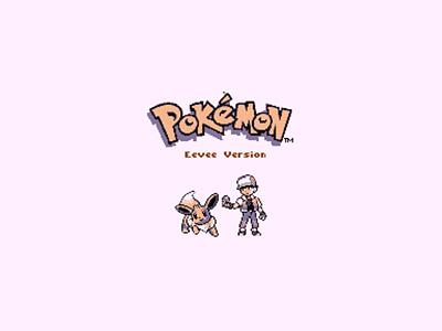 Pokémon Eevee Version pixel art gameboy eevee lets go pokemon teameevee