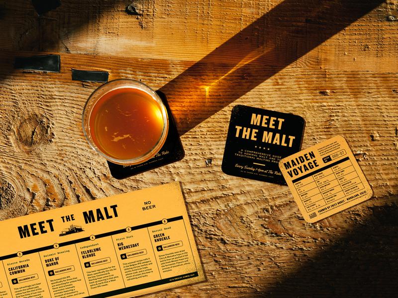 Meet The Malt vintage malthouse factory industrial beer branding beer