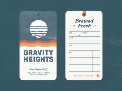 Gravity Heights Hang Tag san diego beer branding beer tag growlertag