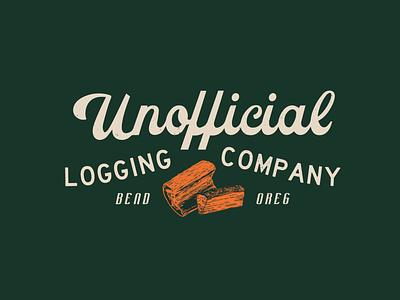 Unofficial Logging Co. axes oregon bend mountains outdoors retro logging axe throwing