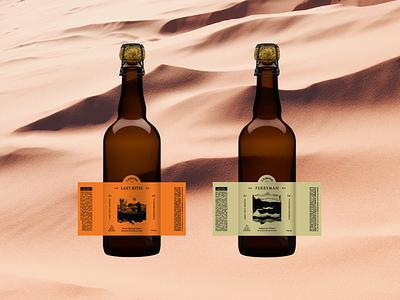Camino Brewing Co. Barrel Aged Series camino brewing desert bottle barrel aged beer brand beer bottle beer label