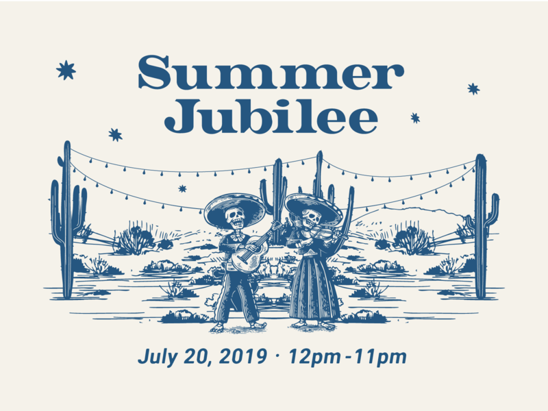 Summer Jubilee camino beer branding beer