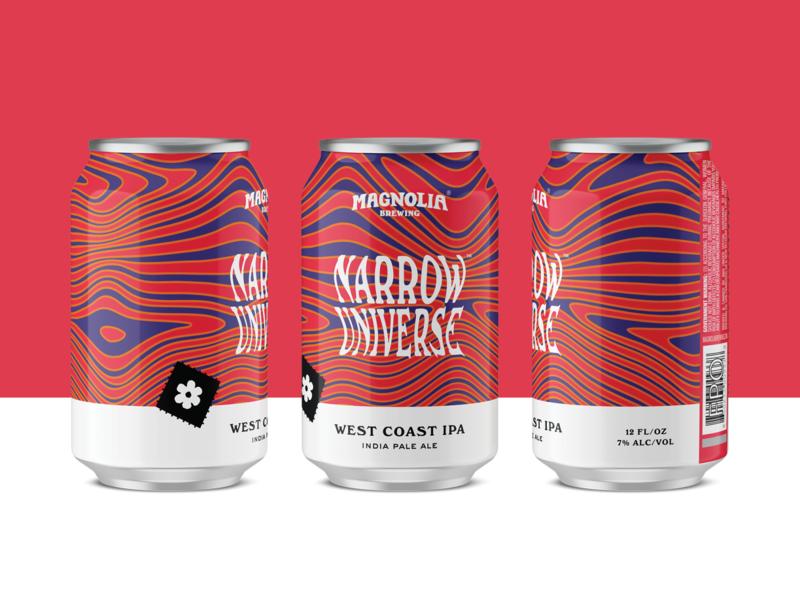Narrow Universe West Coast IPA packaging 60s trippy psychedelic can design beer label beer branding beer