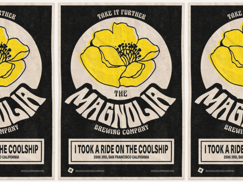 I Took a Ride on the Coolship! sanfrancisco magnolia 60s psychedelic beer branding