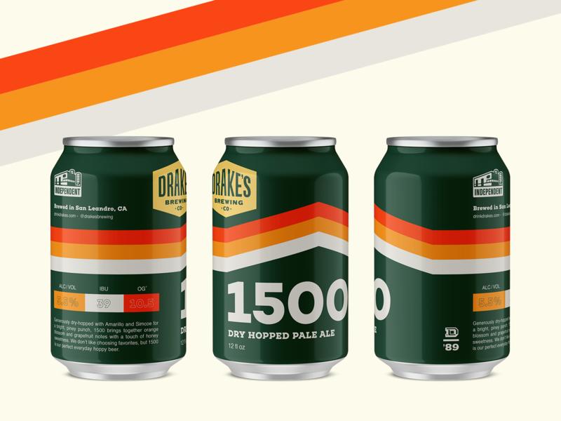 Drakes 1500 drakes retro stripes racer 6pack candesign beer branding beer