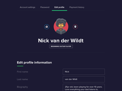 Sideproject schtuff :) account image upload form avatar edit profile