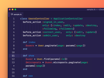 Deep purple Atom theme code editor syntax theme atom colorful purple