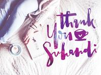 Thanks Suhandi + Freebie - Brush Lettering