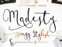 Modesty Font + Freebie