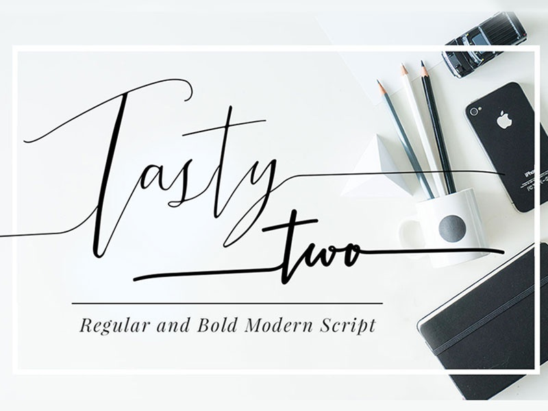 Tasty two font family by mycandythemes dribbble