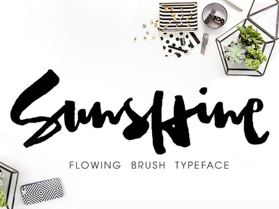 Sunshine Brush Font blogger poster branding logo typography cover design quote watercolor font watercolor brush lettering brush font brush