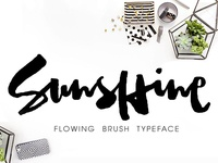 Sunshine Brush Font