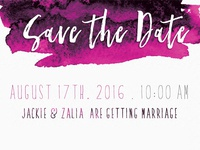 Save The Date in Brush Lettering Font, Skylar