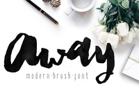 Away Modern Brush Font