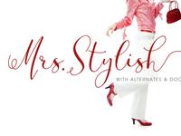 Mrs Stylish Font & Art Work