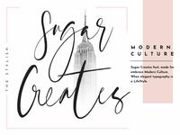 Sugar Creates Font - Signature Branding Logo Font 2019