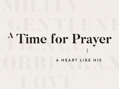 A Time for Prayer