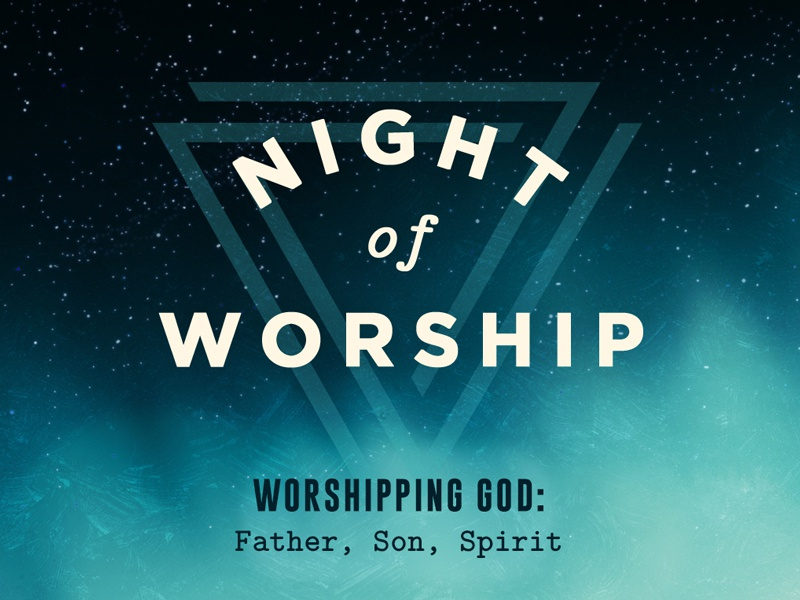 Night of Worship Art logo type sky illustration night of worship