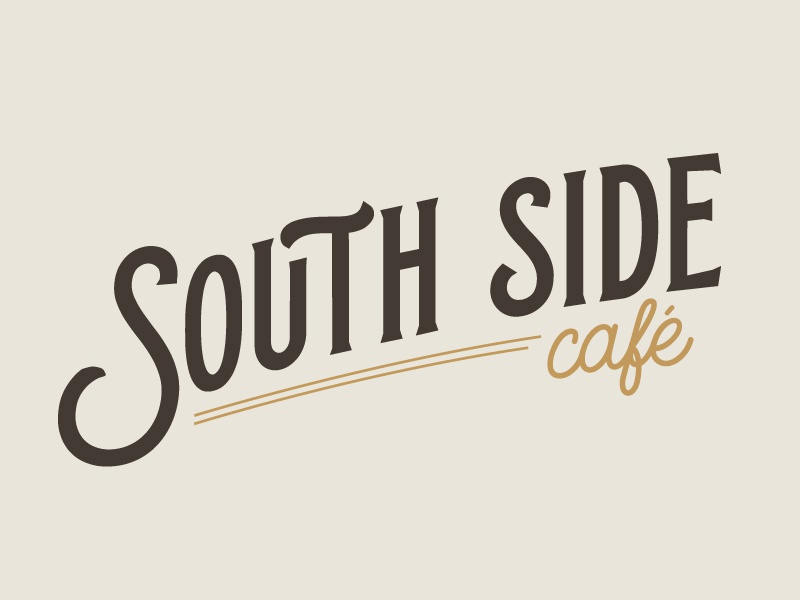 South Side Cafe Insignia lettering branding insignia cafe
