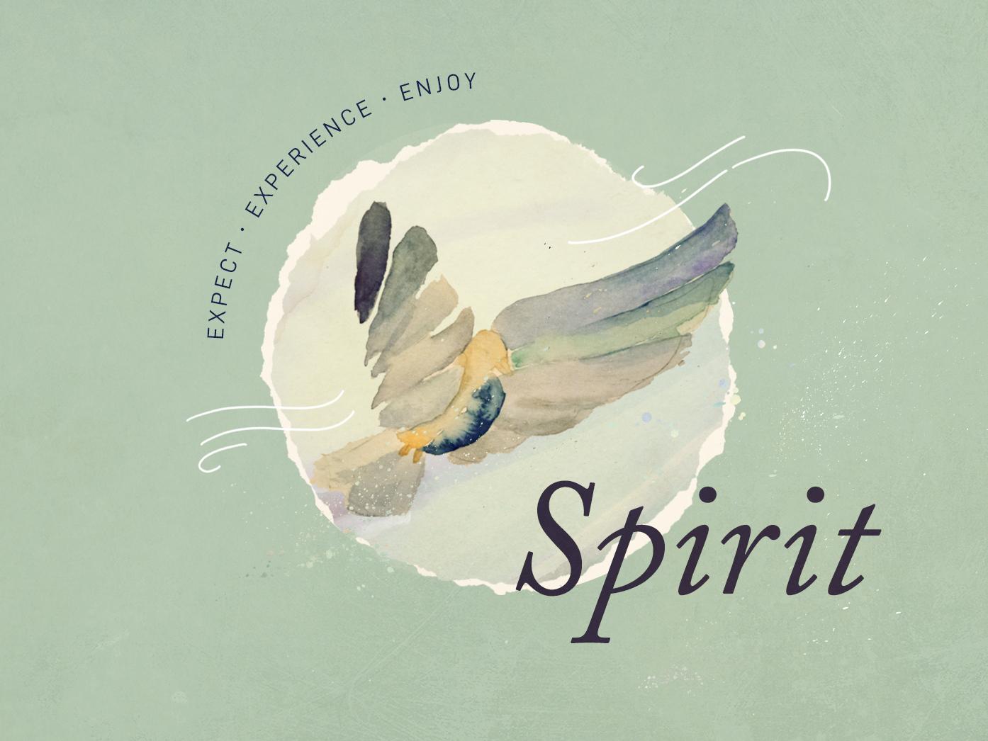 Holy Spirit Sermon Graphic illustration mixed media dove sermon series watercolor
