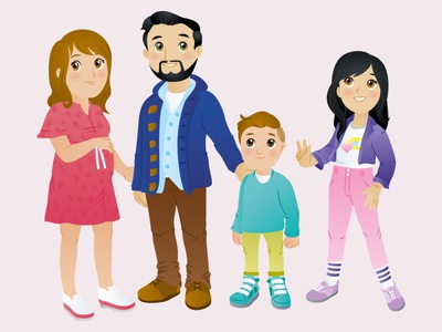 Mexican Family 1 kidlit kids kids book fashion family mexican children book illustration adobeillustrator design big eyes adobe illustrator vector art vector illustration digital illustration